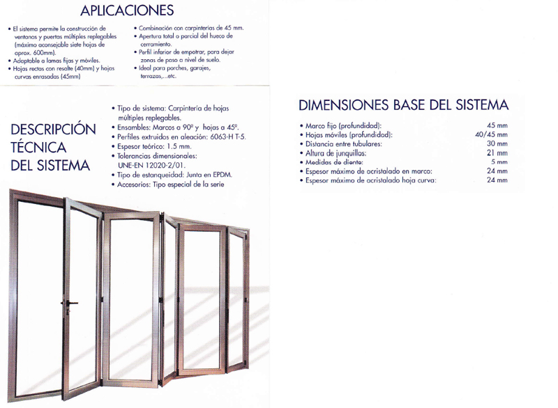 Carpinterias de aluminio con rotura de puente termico - Aluminios ...